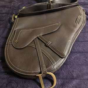 VINTAGE CHRISTIAN DIOR SADDLE BAG